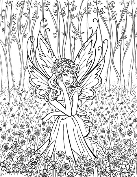 30 Coloring Pages For Adults Difficult Fairies