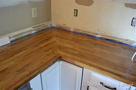 installing ikea wood countertops budget breakdown of the kitchen makeover beneath my