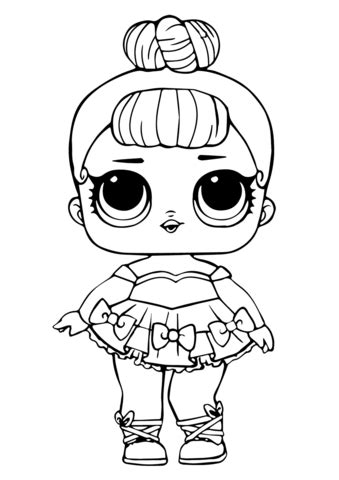 lol doll  baby glitter coloring page  printable coloring pages