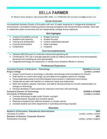 resume for personal assistant to director best education assistant director resume exle livecareer