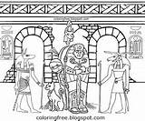 Halloween Coloring Printable Egyptian Monster Drawings Drawing Teenagers Mummy Draw October sketch template