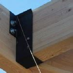 joist hangers for pergola belmont project pinterest