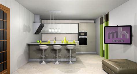 idee deco pour cuisine idee deco cuisine ouverte sur salon cuisine en image