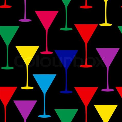 martini glass background martini glass seamless pattern vector illustration stock