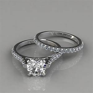Engagement Ring And Wedding Band Bridal Set PureGemsJewels