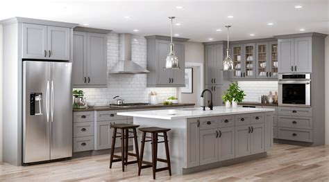 tremont wall cabinets  pearl gray kitchen  home depot