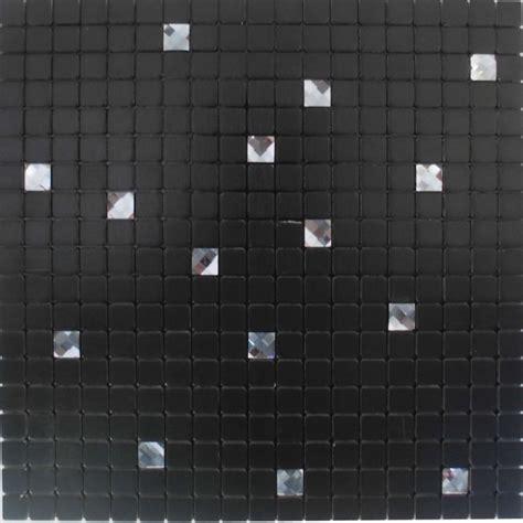 black peel and stick wall tiles adhesive mosaic sheets