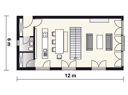 schmale häuser grundrisse reduziert gestaltetes fertighaus planmaterial fertighaus