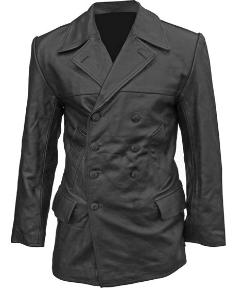 U Boat Jacket by German Black Leather U Boat Deck Jacket Ww2 Repro All