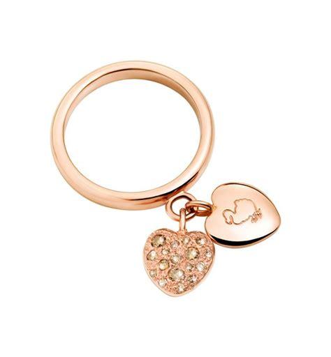 Pomellato Anello Cuore by Anello Cuori Oro Rosa 9 Ct Diamante Brown Dodo