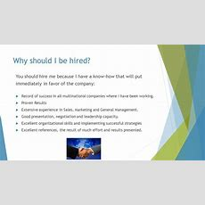 Why Hire Me? By Miguel Marante  Ppt Download