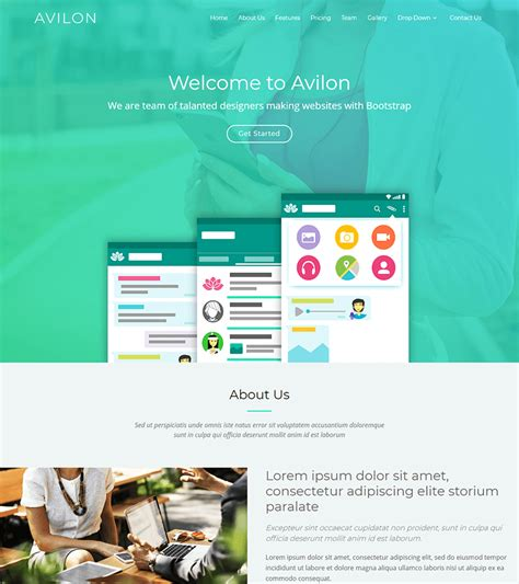Bootstrap Landing Page Avilon Bootstrap Landing Page Template Bootstrapmade