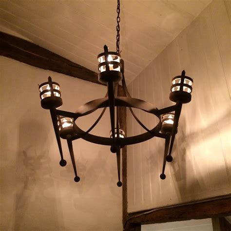 Iron Chandelier Uk by Forged Wrought Iron Portcullis 6 Light Chandelier