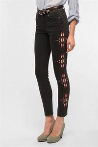 Trend Alert Embroidered Jeans  Celebrities in Designer Jeans from Denim Blog