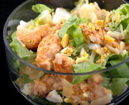 salade césar au poulet light recette de salade césar au
