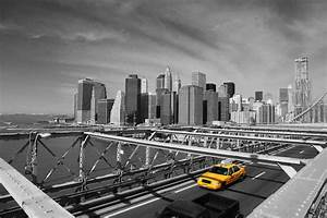 New York Bilder Schwarz Weiß : new york taxi on bridge poster 91 5x61 ~ Orissabook.com Haus und Dekorationen