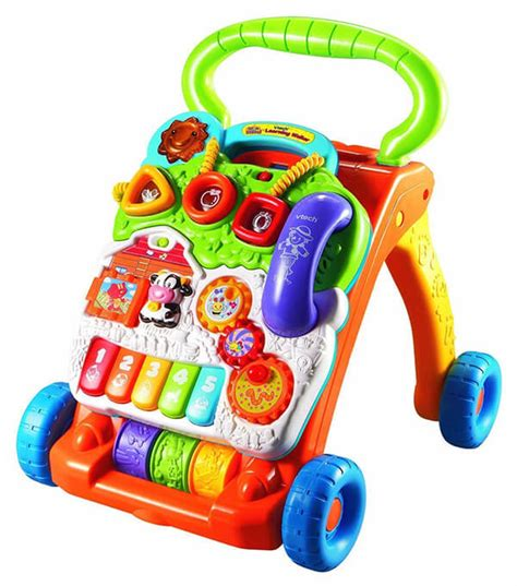 walker push baby stand sit learning vtech toys help babies walk learn child babydotdot features