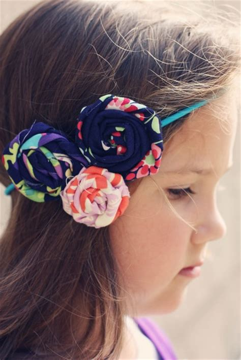 fabric flower girl headbands  engaging wedding