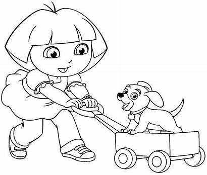 Mewarnai Dora Gambar Kartun Untuk Explorer Anak