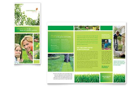 3 Panel Brochure Template High Quality Templates Lawn Mowing Service Designs To Grow A Healthy Business