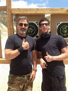 Frank Stallone at the gun range with son, Robbie. | Frank ...