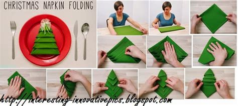 make it yourself christmas decorations simple tree napkin folding tutorial