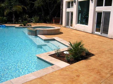 Decorative Concrete Pool Decks, Acid Stained Pool Decks