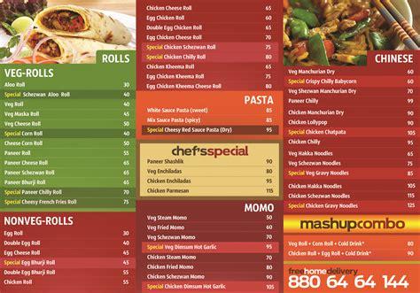 menu cuisine fast food menu food ideas
