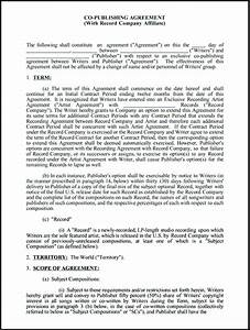 gallery of book publishing contract publisher contract With music legal documents