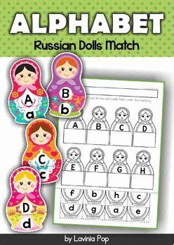alphabet match russian nesting dolls  images
