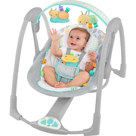 Bany Swings by Bright Starts Taggies Leafy Baby Swing Musical Baby