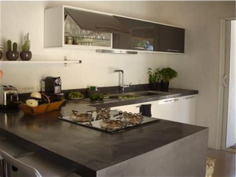 beton ciré cuisine plan travail plan de travail cuisine en béton ciré gris anthracite