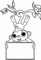 Monkey Coloring Sock Monkeys Printable Hop Valentine Zoo Nativity Socks Drawing Colouring Sheet Simple Getcolorings Scene Kanye West Getdrawings Animal sketch template