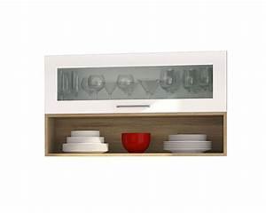 Hängeschrank Küche 100 Cm : h ngeschrank m nchen 1 glasklappe 1 regal 100 cm breit hochglanz wei k che k chen ~ Bigdaddyawards.com Haus und Dekorationen