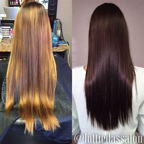 Before And After To Brown Hair by Before After Rich Chocolate Brown Hair Color My Style