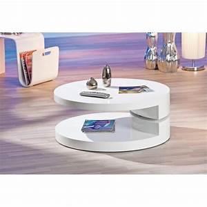 Table Basse Ronde Blanche : table basse ronde blanche achat vente table basse ronde blanche pas cher les soldes sur ~ Teatrodelosmanantiales.com Idées de Décoration