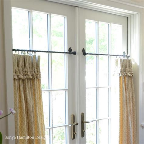 cafe curtain rods the best cafe curtain for a traditional dining room