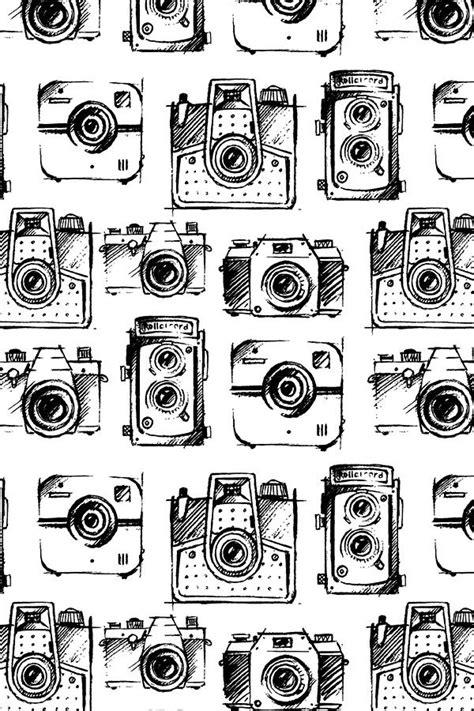 camera sketches  gypseeart black  white vintage