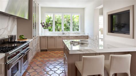 kitchens with terracotta floors palm vacation home sloan mauran interior design 6649