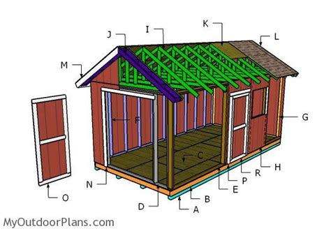 10x20 gable shed roof plans myoutdoorplans free woodworking plans and projects diy shed