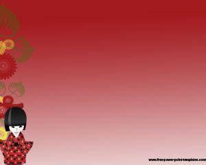 japanese girl powerpoint template