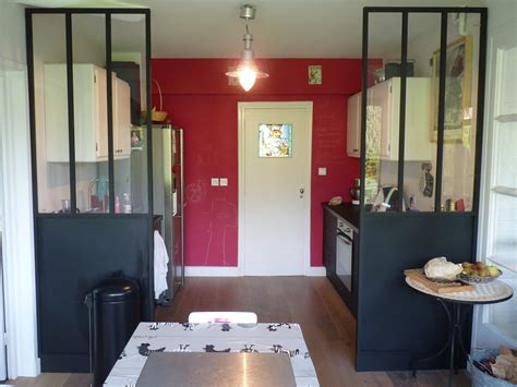 cloison cuisine cuisine avec cloison industrielle vitrée castorama axioma