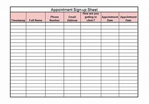 Appointment template excel ereadsclub for Appointment log template