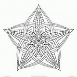 Coloring Geometric Adults Pattern Popular sketch template