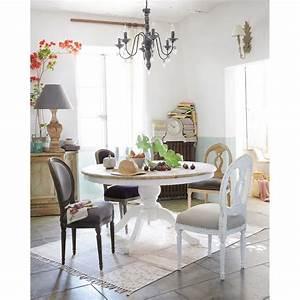 Table Ronde Maison Du Monde : table manger ronde en bouleau 6 8 personnes d140 ivoire provence et maison du monde ~ Teatrodelosmanantiales.com Idées de Décoration