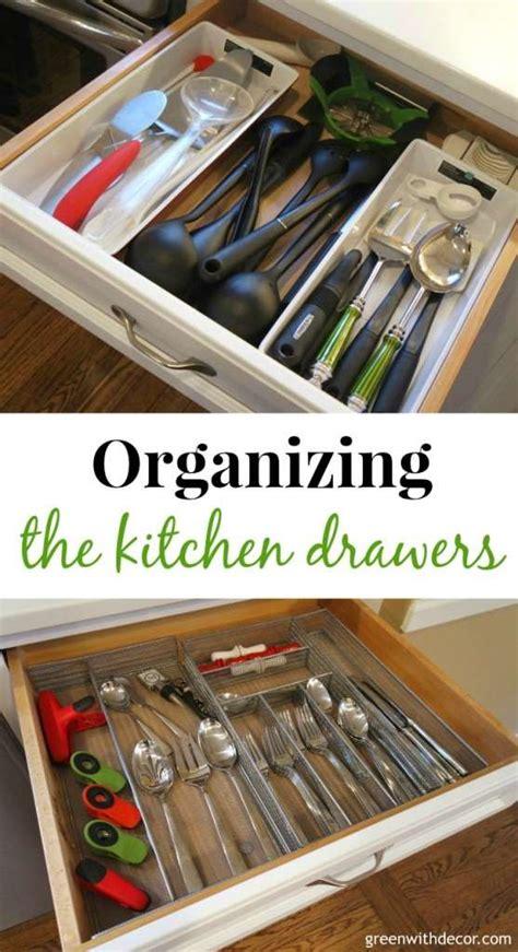 organize junk drawer kitchen green with decor organizing the kitchen drawers 3777
