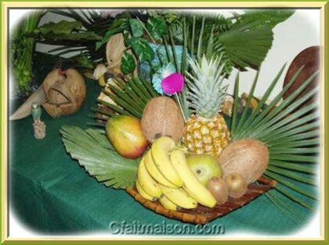 redecorer sa chambre plateau de fruits exotiques thème exotique ou tropical