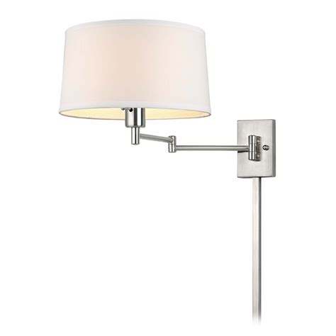 swing arm wall l with drum shade and cord cover 2293