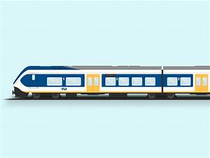 Train illustration by Michael Vermeulen - Dribbble
