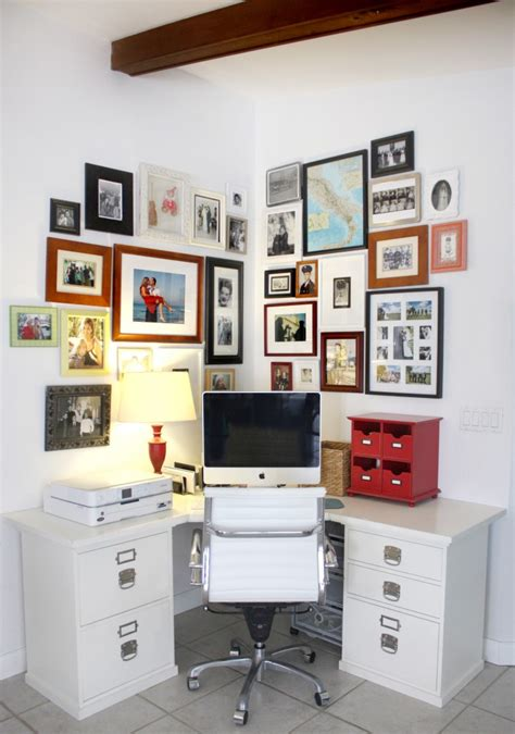 corner desk organization ideas home office with photo wall house mix